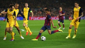 Neymar would save his team from a loss and score the equalizer. (via UEFA Champions League)